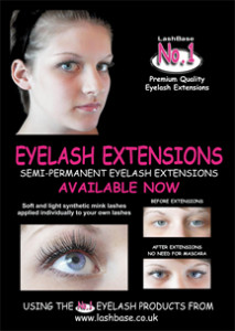 no1 eyelash display poster 216